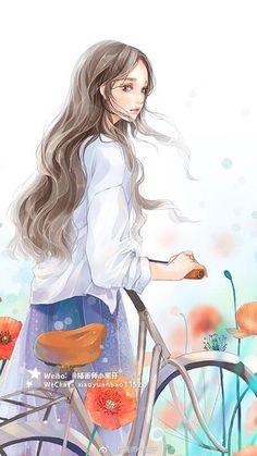 ❖︵ɦòลвìฑɦуêฑϮĩฑɦ♔ Cute Girl Wallpaper, Of Wallpaper, Kawaii Anime Girl, Anime Art Girl, Girl Cartoon, Cartoon Art, Cartoon Drawings, Painting Of Girl, Beautiful Anime Girl
