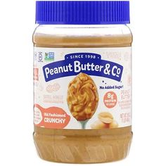 Peanut Butter Co 昔馴染みのクランチーで100 天然クランチーピーナッツバター 16 Oz 454 G Iherb サンドイッチ フルーツ ピーナッツバター サンドイッチ コーンシロップ