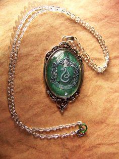 Slytherin House Crest Necklace. I want!