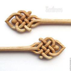 Wooden hair pins / Заколки ручной работы. Ярмарка Мастеров - ручная работа. Купить Шпильки из дерева резные(Ясень). Handmade. Бежевый, палочка, деревянные, handmade