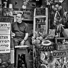 Fruit seller in Tel Aviv, Israel