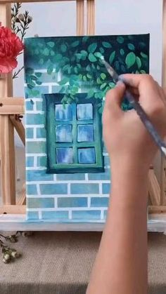 Easy Canvas Art, Small Canvas Art, Mini Canvas Art, Canvas Painting Tutorials, Acrylic Painting Canvas, Watercolor Art Lessons, Art Painting Gallery, Art Drawings Sketches Simple, Gouache