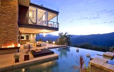 Open views of the mountains, indoor/outdoor pool and no nosey neighbors.  I love it!