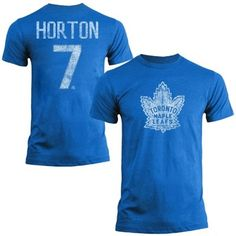 Mens Toronto Maple Leafs Tim Horton Old Time Hockey Royal Blue Name & Number T-Shirt