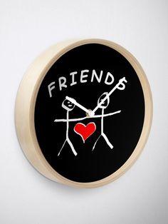 Friend Friendship, Quartz Clock Mechanism, Modern Prints, Hand Coloring, Wall, Gifts, Design, Presents