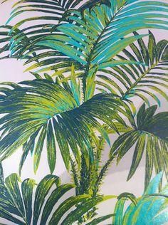 Des papiers peints d'ete : Papier peint Palmes (Signature chez Jules & Jim).