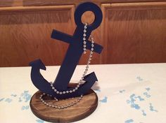 Set of 4 Anchor, Nautical Theme Table Top Centerpiece, , Nautical Anchor Centerpiece, Nautical Wedding Centerpieces, Nautical Wedding Theme, Nautical Party, Party Centerpieces, Sailor Party, Baby Boy Shower, Summer Wedding, Party Themes