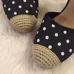 Lucky Brand polka dot wedges Adorable wedges!  In excellent condition.  Worn once. Lucky Brand Shoes Wedges