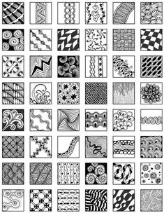 Zentangle Patterns for Beginners - Bing Images More …