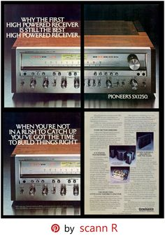 Ad for the Pioneer SX12501