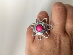 """Ringe - Tagua-Blütenring """"Rosa"""" - ein Designerstück von phitolotta bei DaWanda"""