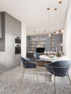 Zoom on kitchen trends 2018 - My Romodel Luxury Dining Room, Dining Room Design, Interior Design Living Room, Home Decor Kitchen, Kitchen Furniture, Kitchen Interior, Modern Outdoor Kitchen, Modern Dining Table, Küchen Design