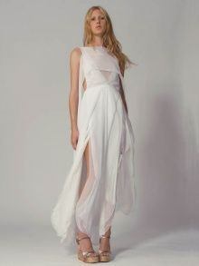 Flowing Chiffon Dress | NOT JUST A LABEL by Azede Jean Pierre. Ahhh but can you sit down in it and not flash the groom's family with a nipple.