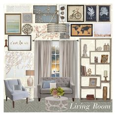 """Living Room"" by gracer0se on Polyvore featuring interior, interiors, interior design, home, home decor, interior decorating, Laura Ashley, Nate Berkus, Andrew Martin and Dorel Asia"