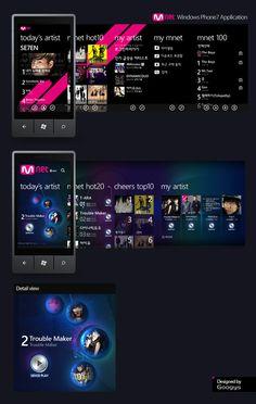 MNET Windows Phone7 App.