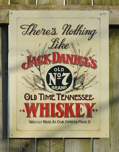 Pin Jack Daniels Tennessee Whiskey  NO 7 Tin metal retro Sign Garage Man Cave Alcohol Bar red, black and tan