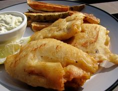 Paula Deen Beer Battered Fish and Chips