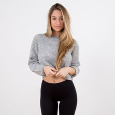 Grey Sweater Savannah Montano