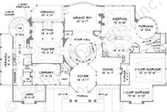 Park Place House Plan - First Floor Plan