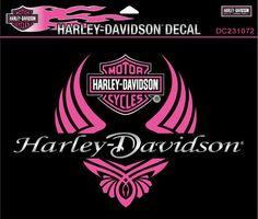 DC231072 - Harley-Davidson® Diva Wings Small Decal - Barnett Harley-Davidson®