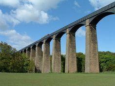 sky-high narrowboating along the Pontcysyllte Aqueduct in Wrexham County Borough in Wales   photo credit: Akke Monasso