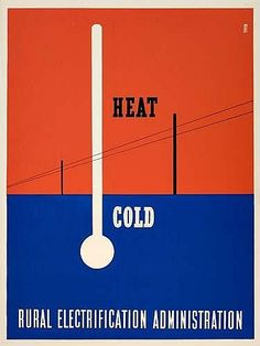 Lester Beall - Heat/Cold, Rural Electrification Administration