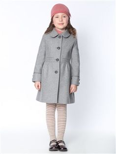MANTEAU FILLE LAINE, La fille - Vetement et déco Cyrillus Baby Outfits, Sous Pull, Striped Tights, Girl Silhouette, Kids Wardrobe, Kids Fashion, Fashion Outfits, Roll Neck Sweater, Girls Sweaters