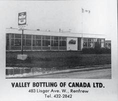 Valley Bottling Renfrew, Ontario. Ontario, Canada, Buildings, Movies, Movie Posters, Industrial, Photos, Pictures, Films