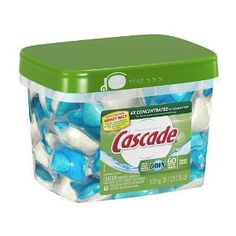 #7: Cascade ActionPacs Dishwasher Detergent, Fresh Scent, 60-Count Container.