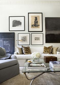Collected art makes for the best gallery wall. Robert Brown Interior Design