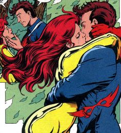 Firestar and Justice lock lips by Darick Robertson.