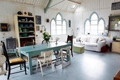 i've always loved the idea of renovating an old church into a living space.  sounds like a great word to me! :)