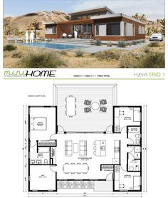 House Plans in Modern Architecture. Best House Plans, Dream House Plans, Modern House Plans, Small House Plans, House Floor Plans, Small Contemporary House Plans, U Shaped House Plans, Container House Design, Small House Design
