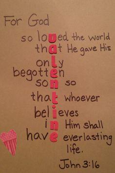 For God so Loved... Valentine