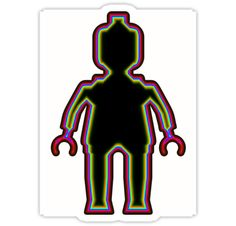 """""""Alien Minifig Xray 1 by Customize My Minifig"""" Stickers by ChilleeW 