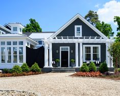 An oyster shell driveway is such a great summer house touch