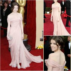 Aliexpress.com : Buy Discount Anna Kendrick Off Shoulder Sexy Pink Oscar Red Carpet Chiffon with Button Celebrity Inspired Dresses from Reliable Celebrity Dresses suppliers on HONEYSTORE CO., LIMITED $378.08