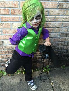 Boys joker Halloween costume  sc 1 st  Pinterest & DIY Joker toddler costume | Liam | Pinterest | Toddler costumes ...