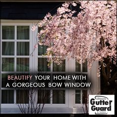 Add beauty to your home with a gorgeous bow window. Bow windows are designed to create space by projecting beyond an exterior wall, This provides a wider view than traditional windows as well as adding warmth and spaciousness to your home.#BowWindowsAtlanta #BowWindowsDecatur #BowWindowsMarietta