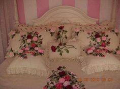Kurdele nakışı yatak örtüsü modelleri ve yapılışı