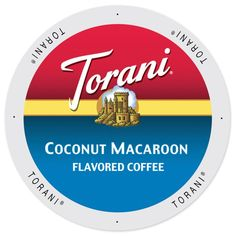 Torani Coffee Coconut Macaroon Flavor Single Serve K-Cup Brewers Pack (192 Count), White