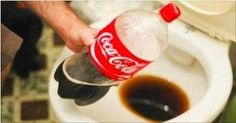 How to Clean a Toilet with Coke. Coca-Cola isn't just a tasty beverage — its mild acidity makes it useful for commode-cleaning purposes. Are you looking for a way to deal with toilet limescale without shelling out cash for expensive. Coke Cans, Beverages, Drinks, Clean Up, Coca Cola, Clean House, Drink Bottles, Cleaning Hacks, Toilet