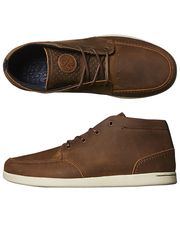 REEF SPINIKER MID NB LEATHER SHOE - BROWN on http://www.surfstitch.com