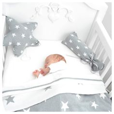 "Etoile musicale ""Grey Stars"" by BABY'S ONLY 2  I would love this bedding set with the cloud bumper. That would be adorable"