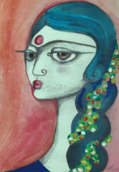 Fine art print. I love this. Gajrewali Indian women with flower garland fine by…
