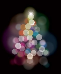 Fluorescent celebration background with colorful transparent blurry bubble lights over a solid black background. Christmas Light Bulbs, Christmas Holidays, Xmas, Free Graphics, Vector Graphics, Backgrounds Free, Colorful Backgrounds, Solid Black Background, Celebration Background