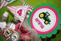 Girly tractor party
