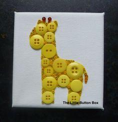 10x10cm Yellow Giraffe Button picture