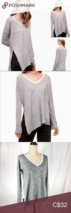 Aritzia Wilfred Sherbrooke T-Shirt Sweater Sweater Shirt, T Shirt, Plus Fashion, Fashion Tips, Fashion Trends, Wardrobe Staples, Hemline, Heather Grey, High Low