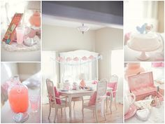 Vintage Bridal Shower Ideas on Pink Party Pink And Aqua Party Girls Party Baby Shower Bridal Shower